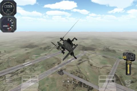 Apache 3D Sim im Spiel Gameplay