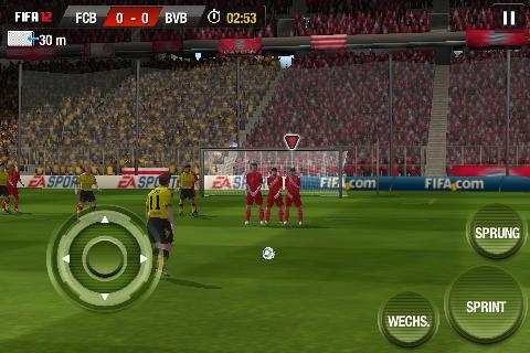 Fifa 12 App im Spiel