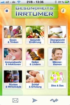 Gesundheits-Irrtümer Kategorien