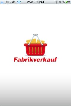 Fabrikverkauf App Start