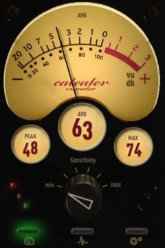 Lautsträkemesser VU Meter dB Meter