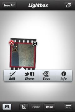 Camera+ Aufnahme editieren