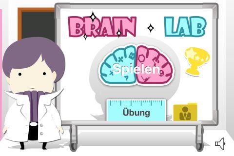 Gehirnlabor 2 Pro Startbildschirm