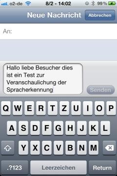 SMS Sprachanwendung