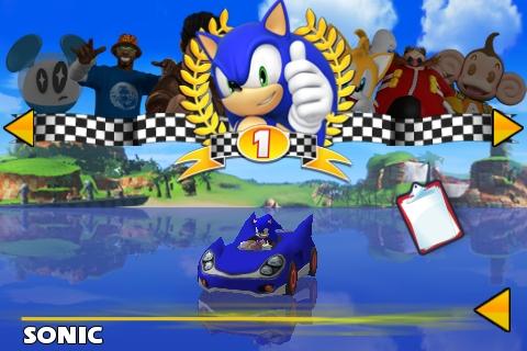 Sonic & Sega All-Stars Racing Fahrerwahl