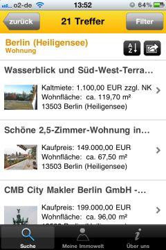 immowelt.de Suchergebnisse